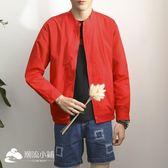 男士外套 新款韓版潮休閑夾克運動棒球服夏季沖鋒衣男開衫上衣