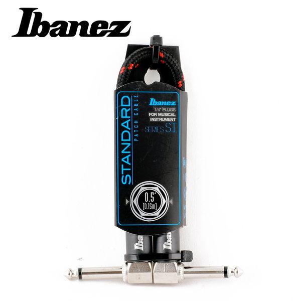 小叮噹的店-IBANEZ SI05P-BW WOVEN 0.5呎 編織 短導線(黑紅)