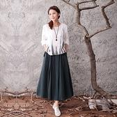 棉麻長裙-秋冬加厚純色設計半身女裙子4色73hr4[巴黎精品]