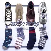 襪子男士長襪韓版中筒襪夏季潮街頭歐美運動純棉防臭吸汗短襪男 美芭