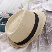 草帽-防曬夏季個性有型休閒女爵士帽6色73rp120[時尚巴黎]