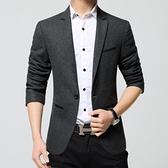 西裝外套 新款男士單西服男士上衣商務休閒毛呢羊毛小西裝男韓版修身外套潮