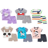 兒童套裝睡衣家居服卡通T恤短袖短褲2件套童裝夏季薄款男童女寶寶2件套潮服韓版 88113