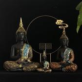 廳酒櫃禪意東南亞裝飾樹脂泰國佛像車載小擺件裝飾品工藝品 【新年快樂】YYJ