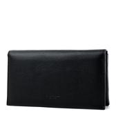 美國正品 COACH 中性款 荔枝紋對折長夾/手機包-黑色【現貨】