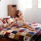 LUST生活寢具【羅馬假期】100%純棉、5尺床包/枕套/舖棉被套6x7尺、台灣製