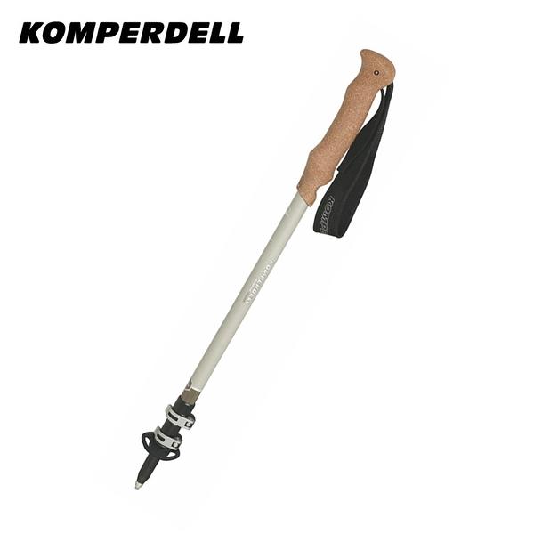 丹大戶外【Komperdell】 登山杖 女鋁快扣軟木 銀色 1742325-10 手杖│登山杖│爬山│健行│健身器材
