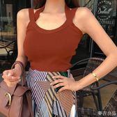 吊帶背心女夏外穿2018新款韓版修身內搭無袖針織上衣打底衫潮  麥吉良品