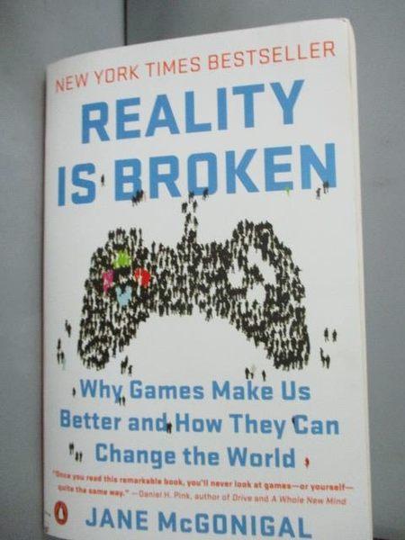 【書寶二手書T9/社會_IJT】Reality Is Broken: Why Games Make Us Better…