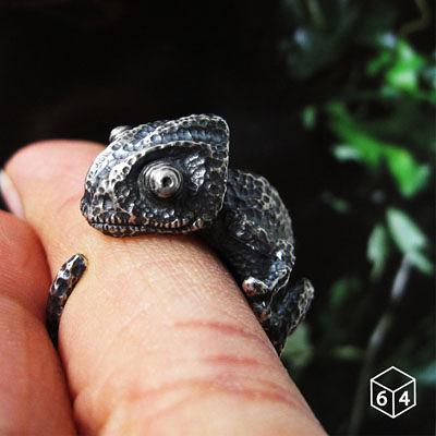 64DESIGN訂製戒指-變色龍戒指 925純銀戒指