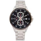SEIKO 競速風格的計時手錶(SKS633P1)-黑面X黑色框/42mm