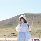 春季日系復古Lolita娃娃翻領風琴百褶燈籠袖白棉襯衣品牌【櫻桃菜菜子】