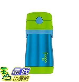 保溫杯 THERMOS FOOGO Vacuum Insulated Stainless Steel 10-Ounce Straw Bottle, Blue/Green