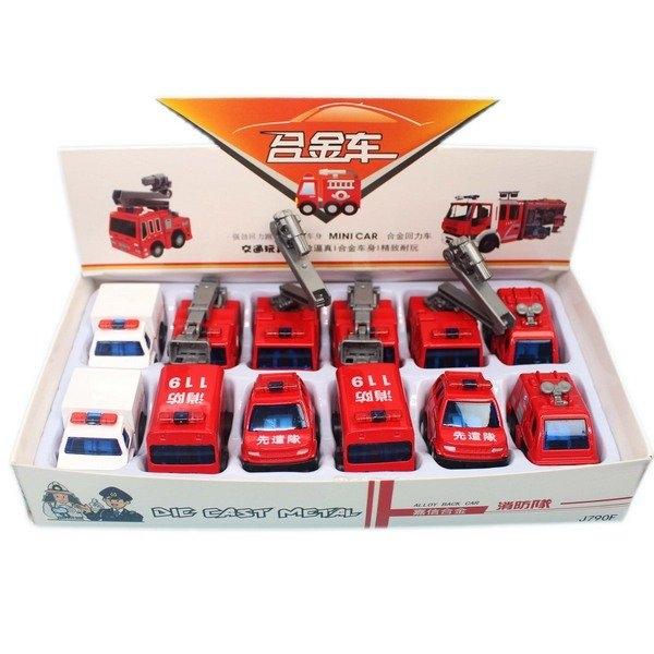 MINI CAR 消防合金車 J790F 迴力合金小汽車(混款)/一台入(促50) 合金汽車 火柴盒小汽車-睿