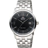 ORIENT 東方錶 DATE系列 城市菁英機械錶-黑x銀/41mm FER2700BB