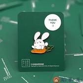 胸針 胡蘿卜偏黃 兔子 日系可愛 包包卡通配件 森系女徽章【淘夢屋】