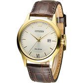 星辰 CITIZEN 光動能復古休閒經典腕錶 AW1232-12A