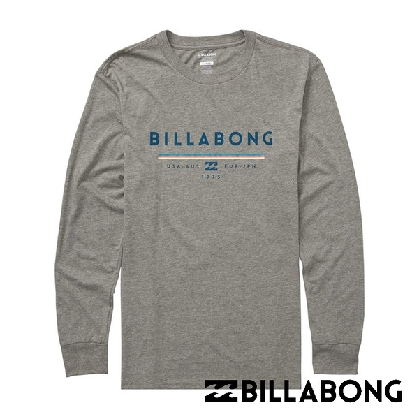BILLABONG UNITY 男長袖T恤  灰 M405QBUNDGH【GO WILD】