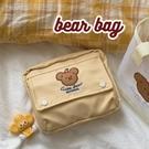 月神少女*bearbag暖黃小熊可愛少女心手帳收納包文具包筆袋 黛尼時尚精品