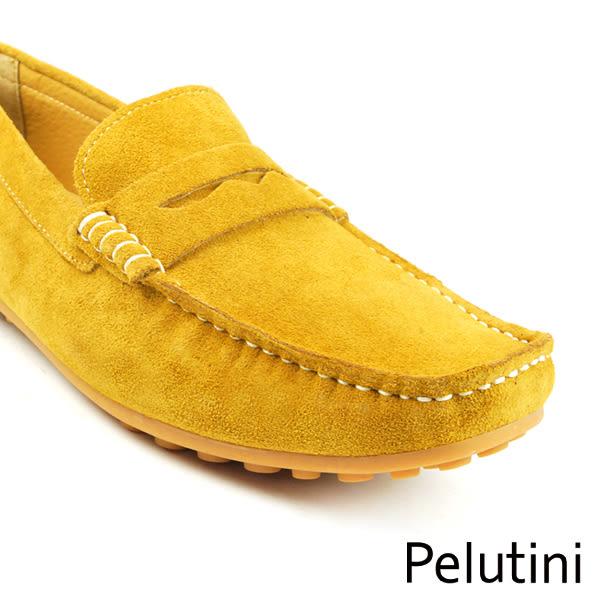 【Pelutini】基本款麂皮豆豆鞋 棕黃色(9036-BRS)