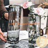 北歐簡約創意輕奢花瓶水養富貴竹百合玻璃插花瓶客廳餐桌擺件【白嶼家居】