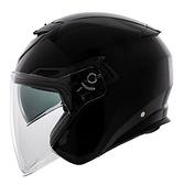 【東門城】LUBRO CRUISE TECH 素色(黑)半罩式安全帽 雙鏡片