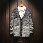 針織外套 針織衫男大碼長袖上衣秋冬學生韓版潮流開衫外套  萬客居