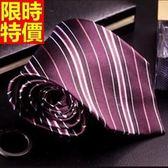 桑蠶絲領帶 男配件-英倫品位條紋真絲手打領帶66ae29[巴黎精品]