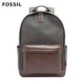 FOSSIL BUCKNER 撞色拼接後真皮後背包-灰/咖啡色 MBG9364001