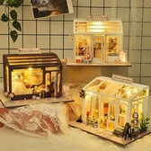 diy小屋 巧之匠手工制作迷你店鋪房子模型拼裝玩具創意禮物生日女【黑色妹妹】