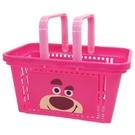 【震撼精品百貨】玩具總動員_Toy Story~日本迪士尼塑膠手提雙面圖案置物籃-熊抱哥