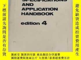 二手書博民逛書店KOMATSU罕見SPECIFICATIONS AND APPLICATION HANDBOOK edition4