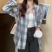 (免運)DE shop - 格子長袖襯衫 - YY-029