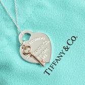 Tiffany&Co.正品 全新 Return to Tiffany系列 經典愛心玫瑰金鑰匙 925純銀 項鍊 禮物 情人節 女友 生日