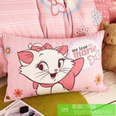 迪士尼 純棉 卡通 印花 枕套 枕頭套 瑪麗貓-一對2個