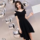 小禮服洋裝小禮服名媛高貴新款宴會連身裙顯瘦黑色晚禮服女平時可穿28日 快速出貨