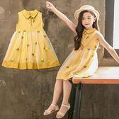 女童夏裝2019新款兒童裝洋氣韓版連身裙中大童公主裙女孩裙子夏季