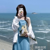 夏季韓版2021新款收腰顯瘦法式名媛風中長款吊帶洋裝女裙子chic連身裙