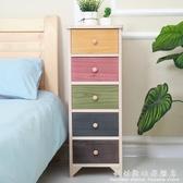 長30公分床頭櫃實木夾角縫收納櫃抽屜式窄櫃置物架30cm寬小型桌子 科炫數位