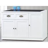 櫥櫃 餐櫃 CV-701-5 綺雅娜白色3.8尺碗碟櫃【大眾家居舘】