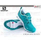 【速捷戶外】法國《SALOMON》戶外休閒鞋 S-Wind Inca 307979 女-(海藍綠) 全新上市體驗價