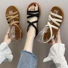 平底涼鞋女仙女風新款夏季時尚綁帶一字軟底學生百搭羅馬鞋  【全館免運】