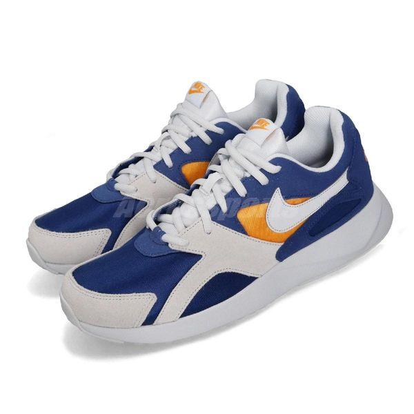 【六折特賣】Nike 休閒鞋 Pantheos 藍 黃 麂皮鞋面 復古百搭 運動鞋 基本款 男鞋【PUMP306】 916776-402