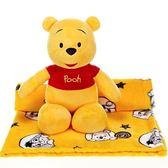 【美國 ZOOBIES X DISNEY】迪士尼mini造型玩偶毯【mini Winnie the Pooh 迷你小熊維尼】