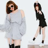 背心+短褲(附皮帶)+連帽外套三件式套裝【AD101741A1】THEGIRLWHO那女孩預購