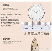 代用天梭CK天王浪琴DW超薄平紋手錶帶男女鏈自動蝴蝶針扣配件   圖拉斯3C百貨