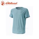 【Wildland 荒野 男款 銀纖維排汗抗菌上衣《灰綠》】0A51632/春夏款/排汗衣/短袖