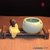 煙灰缸 青瓷煙灰缸陶瓷創意時尚防風煙灰缸