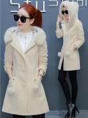 呢子外套 毛呢外套女中長款2020新款秋冬裝流行加厚女裝冬季小個子呢子大衣【免運】
