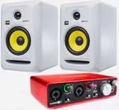 凱傑樂器 贈錄音介面 KRK RP6G3  6吋監聽喇叭(白色) 一對 公司貨